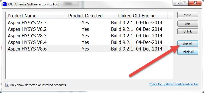 Installing the OLI Engine for Aspen HYSYS - wiki olisystems com